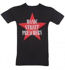 Men's Black Manic Street Preachers Red Star T-Shirt [View details]