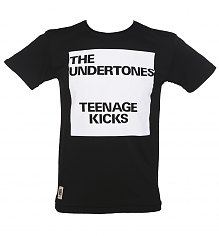 Men's Black Teenage Kicks Undertones T-Shirt from Worn By [View details]