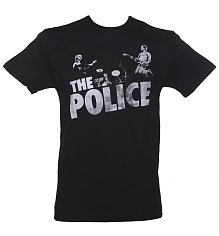 Men's Black The Police Classic T-Shirt from Goodie Two Sleeves [View details]