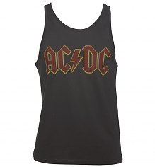 Men's Charcoal AC/DC Logo Vest from Amplified [View details]