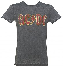 Men's Charcoal Burnout AC/DC Logo T-Shirt [View details]