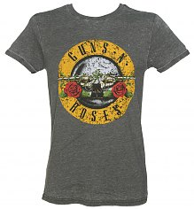 Men's Charcoal Burnout Guns N Roses Logo T-Shirt [View details]