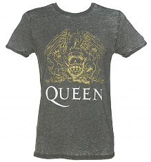 Men's Charcoal Burnout Queen Crest T-Shirt [View details]