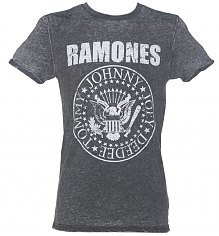 Men's Charcoal Burnout Ramones Logo T-Shirt [View details]