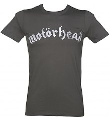 Men's Charcoal Motorhead Distressed Logo T-Shirt [View details]