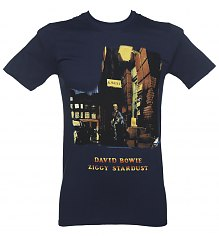 Men's Navy Ziggy Stardust David Bowie T-Shirt [View details]