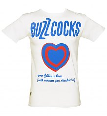 Men's White Buzzcocks Fallen In Love T-Shirt from Worn By [View details]