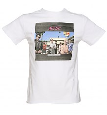 Men's White Dirty Deeds Album Cover T-Shirt from Amplified [View details]