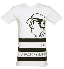 Men's White Factory Records Long Line T-Shirt from Worn By [View details]