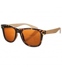 Tortoiseshell Wayfarer Sunglasses With Bamboo Arms [View details]