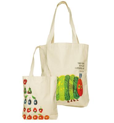 The Very Hungry Caterpillar Vintage Cover Print Canvas Tote Bag from Out Of Print