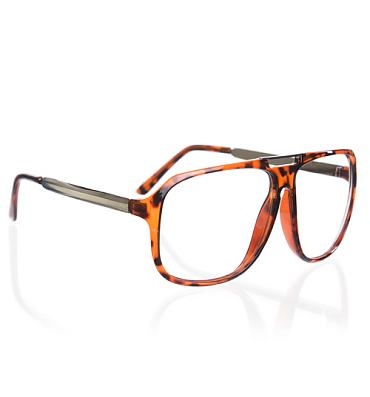 Tortoiseshell Bertie Clear Oversized Geek Glasses from Jeepers Peepers