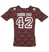 Men's Burgundy Voodoo Child T-Shirt As Seen On Mick Jagger from Worn By
