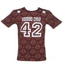 Men's Burgundy Voodoo Child T-Shirt As Seen On Mick Jagger from Worn By [View details]