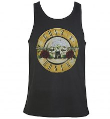 Men's Charcoal Guns N Roses Drum Logo Vest from Amplified [View details]