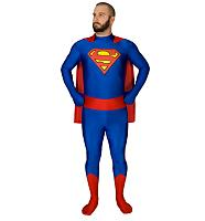 Unisex Full Body Superman Zentai Skin Suit