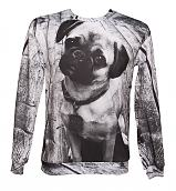 Unisex Photographic Pug Jumper from Mr Gugu &Miss Go
