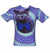 Unisex Psychedelic Crazy Cat T-Shirt from Mr Gugu & Miss Go