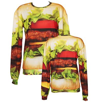 Unisex Tasty Burger Jumper from Mr Gugu & Miss Go