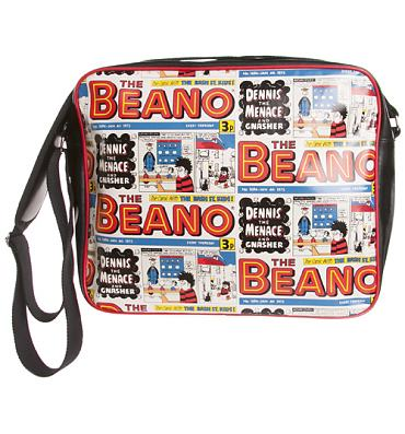 Vintage Comic Strip Print Beano Messenger Bag