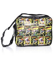 Vintage Print Superman Messenger Bag