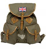 Vintage Style Washed Khaki Canvas McKellen Rucksack from Gola