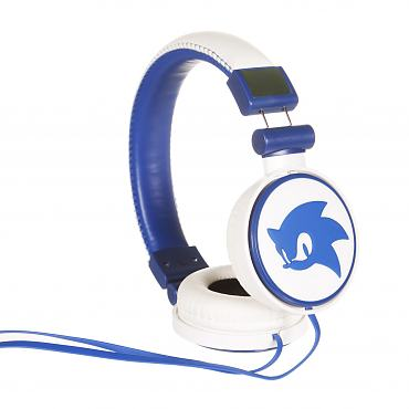 White And Blue Sonic The Hedgehog Headphones