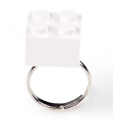 White Build Me Up Ring from Bits and Bows
