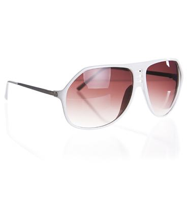 White Retro Plastic Sam Aviators from Jeepers Peepers