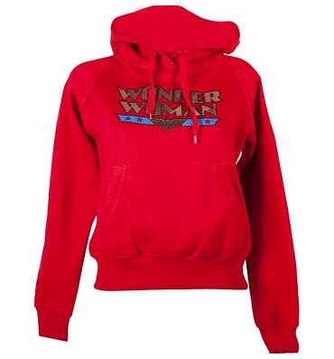 Ladies Wonder Woman Logo Hoodie from Urban Species