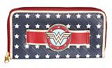 Wonder Woman Star Print And Logo Wallet