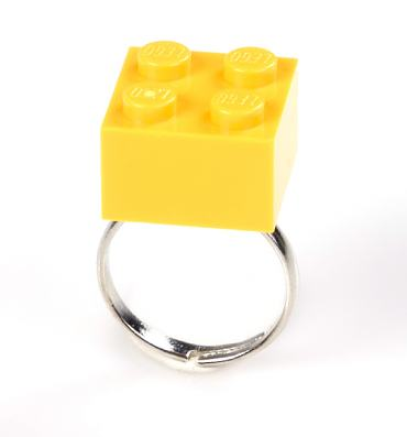 Yellow Build Me Up Ring from Bits and Bows