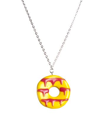 Yellow Party Ring Necklace from Bits and Bows