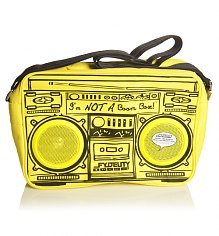 Yellow Retro Boombox Shoulder Bag With Working Speakers from Fydelity [View details]