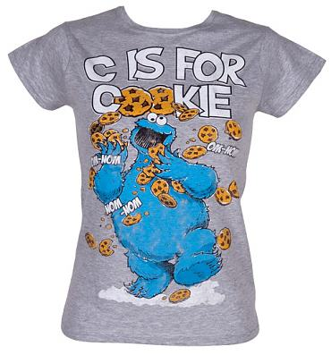 Ladies C Is For Cookies Sesame Street T-Shirt